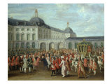 Arrival of Archduke Maximilian (1756-1825) at the Residenz Palace Bonn Germany, 1780 Giclee Print by Johann Franz Rousseau