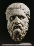 Marble Head of Plato 428-348 BC, Greek philosopher, 350-40 BC Reproduction photographique