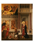 Annunciation, with Saint Luke the Evangelist Giclee Print by Benedetto Bonfigli