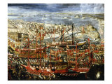 Arrival of Morosini&#39;s Fleet in Basin of St Marks, Venice, 1685 Giclee Print