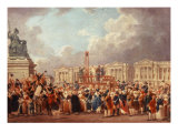 Execution in the Place de la Revolution, Paris, France Giclee Print by Pierre-Antoine Demachy