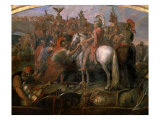 Julius Caesar, 100-44 BC Roman general, Sending Roman Colony to Carthage Reproduction procédé giclée par Claude Audran the Younger