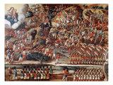 Battle of Guararapes, Brazil, 18 February 1649 Giclée-Druck