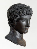 Head of Victorious Athlete Called the Benevento Head, Bronze, 5th century BC Greek Photographic Print