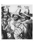 Guy Fawkes, Planned to Blow up English parliament November 5th, 1605; detail of Gunpowder Plotters Giclee Print