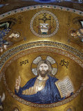 Christ Pantocrator, Palatine chapel, Palazzo dei Normanii or Palazzo Reale, Palermo, Sicily Photographic Print