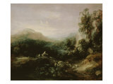 Landscape with Bridge Giclee Print by Thomas Gainsborough