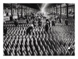 Munitions Factory in Britain during the First World War with both Male and Female Workers Giclee Print