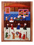 Wise Men and Astronomers in the Galata Observation Tower, Ottoman Minature, 16th century Giclee Print