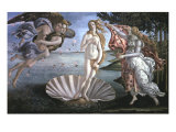 The Birth of Venus, with Chloris, Zephyrus and Spring, c.1485 Giclee Print by Sandro Botticelli