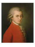 Posthumous Painting of Wolfgang Amadeus Mozart, 1756-1791 Giclée-tryk