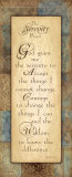 Serenity Prayer Prints by Jo Moulton