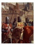 Knights, from Battle of Ascalon, 18 November 1177 Giclee Print by Charles-Philippe Lariviere