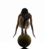 Woman Balancing on Globe Photographic Print by Alfonse Pagano
