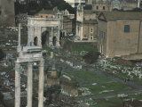 Roman Forum in Rome, with Arch of Emperor Septimius Severus, 146-211 Photographic Print