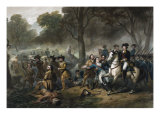 George Washington 1732-1799, First U.S. President, on Horseback during the Battle of Monongahela Giclee Print