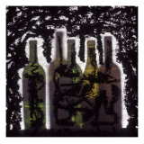 Silhouette of Wine Bottles Giclee Print by Daniel Root