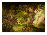 The Forest Crossed by Parsifal to Liberate Amfortas at Castle of Grail, from Opera Parsifal Giclee Print