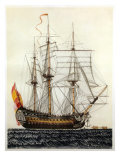 San Telmo, Spanish ship, 17th century Giclee Print
