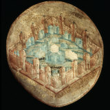 Jerusalem the Holy City, Fresco, 16th century, Tecamachalco, Puebla, Mexico Photographic Print by Juan Gerson