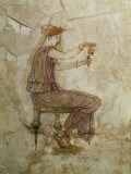 Woman Pouring Perfume into Flask, Fresco, 1st Century, from Villa Farnesina Photographic Print