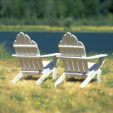 Adirondack Chairs, Puget Island, Wahkiakum County, Washington Photographic Print by Deon Reynolds