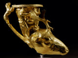 Rhyton (Drinking Horn) with Deer-head Handle, Gold, 4th - 3rd century BC Photographic Print