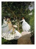 Femmes au jardin (Women in the Garden), 1866-67 Reproduction procédé giclée par Claude Monet