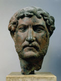 Hadrian, 76-138 AD Roman Emperor, Bronze Head, from Egypt Photographie