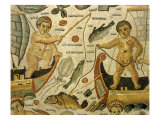 Fishermen in Sailing Boats, from Triumph of Neptune and Amphitrite, Mosaic, 4th century AD Roman Giclee Print