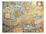 Map of Europe, from 1686 Copy of Atlas by Joan Blaeu Giclee Print