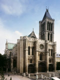 Saint-Denis Cathedral, Gothic, founded 1137 by Abbot Suger Photographic Print