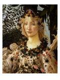 La Primavera, Spring, Detail of Spring, Flora, c.1475 Giclee Print by Sandro Botticelli