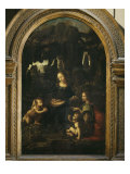 The Virgin of the Rocks Giclee Print by Leonardo da Vinci