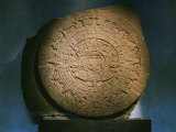 Aztec Calendar or Sun Stone, Basalt Monolith with Carvings of 5 Aztec World-eras Photographic Print