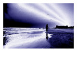 Woman on Beach, Florida Giclee Print by Rich LaPenna