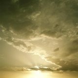 Golden Sunrise in Sky with Clouds Photographic Print by Deon Reynolds