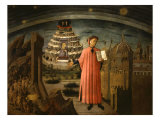 La Divina Commedia Illumina Firenze, Dante Aligheri Giclee Print by  Domenico di Michelino