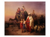 The Departure of Abraham, 1850 Giclee Print by Josef Molnar