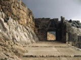 Lion Gate and Ramparts, 14th century BC, Mycenae, Greece Photographic Print