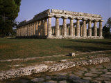 Temple of Hera I, 5th century BC Greek, Paestum, Italy Photographic Print