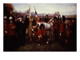 Queen Victoria of England, 1819-1901, Presenting Colours to 79th Cameron Highlanders Giclee Print
