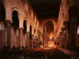 Interior View of Nave, Cathedral, 13th century Norman, Cefalu, Sicily Photographic Print