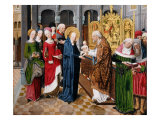 Presentation of Jesus in the Temple by Virgin Mary, from Life of Mary, 1485 Giclee Print by Aachen Master