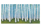 Springtime Birches Prints by Lisa Congdon