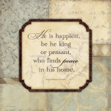 He Is Happiest Prints by Stephanie Marrott