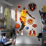 LeBron James Throwback MVP Gold Jersey Wall Decal