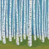 Birch Grove Posters by Lisa Congdon
