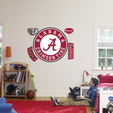 Alabama Crimson Tide Circle Logo Wall Decal