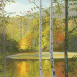 Cooper Lake, Autumn Print by Elissa Gore